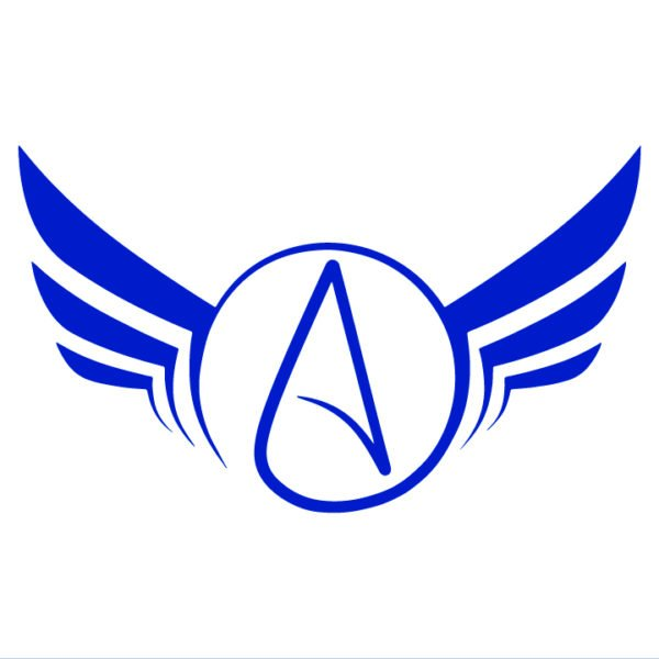 Atheist-Wings-Decal-in-blue