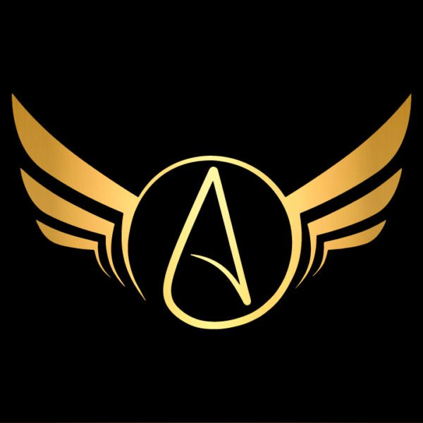 Atheist-Wings-Decal-in-gold