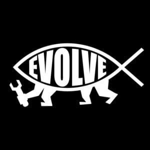 Evolve-Fish-Ichthys-evolution-vinyl-decal in white