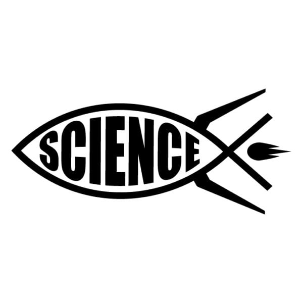 Science-rocket-fish-ichthys-in-black facing left