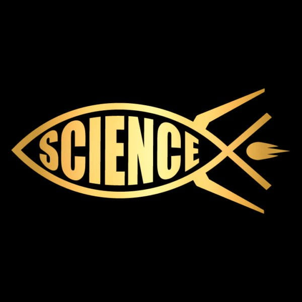 Science-rocket-fish-ichthys-in-gold-facing-left
