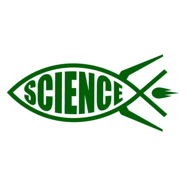 Science-rocket-fish-ichthys-in-green-facing-left