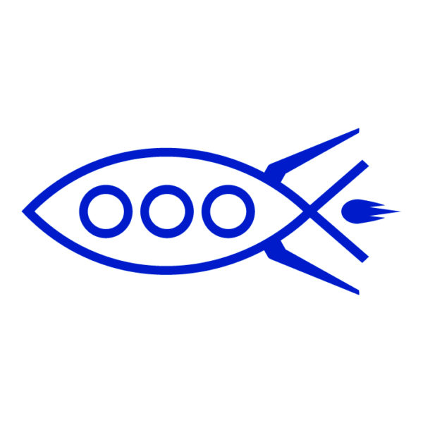 Rocket-fish-ichthys-in-blue