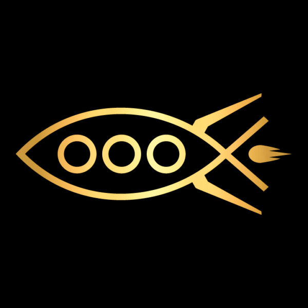 Rocket-fish-ichthys-in-gold