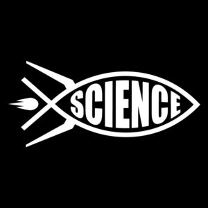 Science-rocket-fish-ichthys-in-white-facing-right
